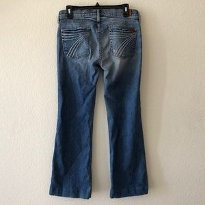 7 For All Mankind dojo wide flare leg jeans 30